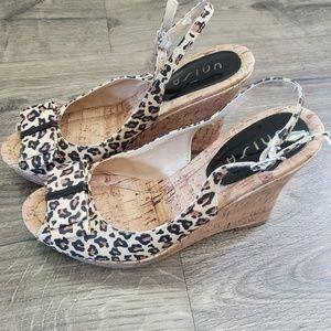 Shoes - Leopard print wedge shoes